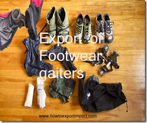 Footwear, gaiters