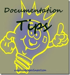 Tips to exporters on Documentation copy