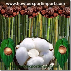 How to Import bamboo,coconut shell,rudraaksha,betal leaves etc