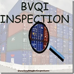 What is BVQI inspection on export goods copy