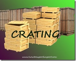 What is Crating in Exports and Imports copy