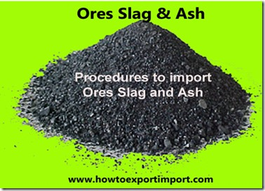 how to import ores slag and ash