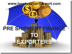 Packing credit finance to exporters