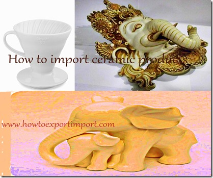 How to import ceramic products