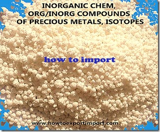 INORGANIC CHEM, ORGINORG COMPOUNDS OF PRECIOUS METALS,  ISOTOPES