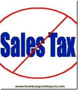 Is sales tax applicable on shipments effected under high sea sales