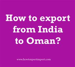 How to export from India to Oman?