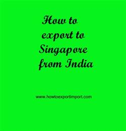 How to export to Singapore from India