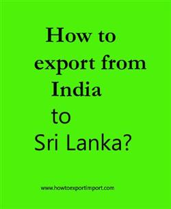 How to export from India to Sri Lanka?