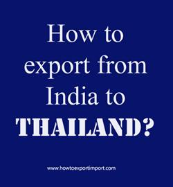 How to export from India to Thailand?