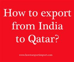How to export from India to Qatar?