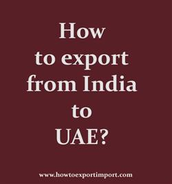 How to export from India to UAE?