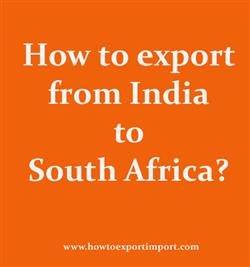 How to export from India to South Africa?