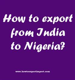 How to export from India to Nigeria?