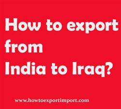 How to export from India to Iraq?